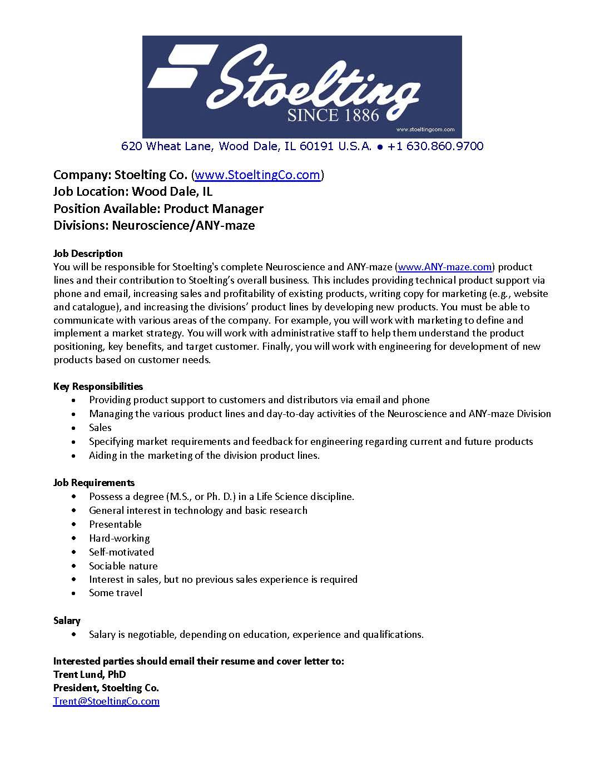 Job Listing > Employment > Chicago Society of Neuroscience